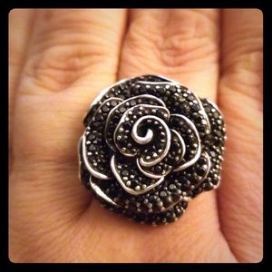 Jewelry - Sterling silver and spinel statement ring sz 11